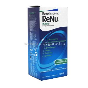 ReNu MultiPlus р-р д/конт.линз универс. фл.120мл N1 Bausch and Lomb IOM S.p.A ИТАЛИЯ