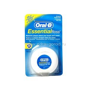 Oral-B Essential unwaxed floss нить зубн. невощ. конт.пластик.50м N1 Procter & Gamble Manufacturing ИРЛАНДИЯ