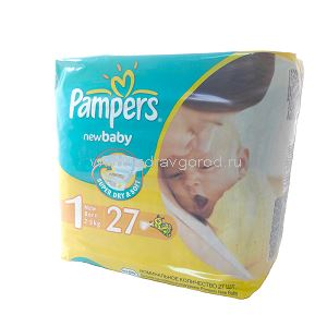 Pampers New Baby Newborn Dry подгузник д/дет. 2-5 кг N27 Procter & Gamble РОССИЯ