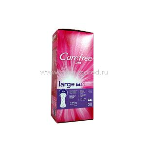 Carefree Large plus салф. гигиен. ежеднев. N20 Johnson & Johnson S.p.A. ИТАЛИЯ