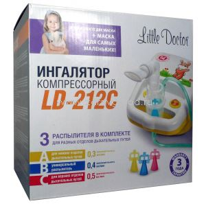 Little Doctor LD-212 C ингалятор компрессорный (белый) N1 Little Doctor International СИНГАПУР