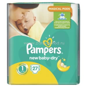 Pampers New Baby mini Dry подгузник д/дет. 3-6 кг N27 Procter & Gamble РОССИЯ