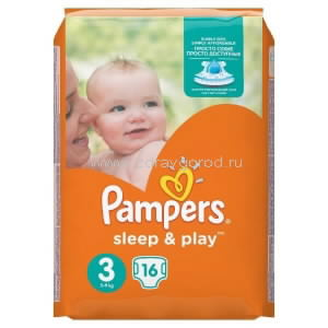 Pampers Sleep&Play midi подгузник 5-9 кг (4-9 кг) N16 Procter & Gamble РОССИЯ