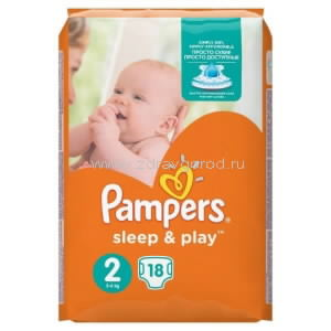 Pampers Sleep&Play mini подгузник д/дет. 3-6 кг N18 Procter & Gamble РОССИЯ