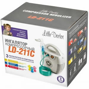 Little Doctor LD-211C ингалятор компрессорный (белый) N1 Little Doctor International СИНГАПУР
